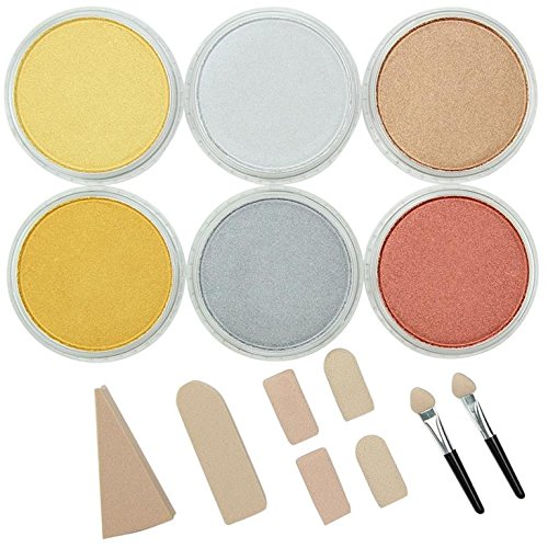 Colorfin Panpastel: Set x 6 colores pasteles metalicos (xsr)