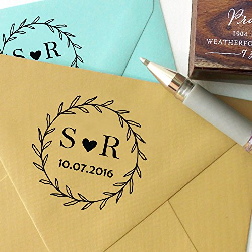 Buy wedding stamps rubber personalized