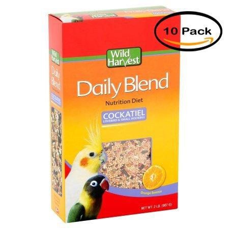 Wild Harvest 8-in-1 Pet Products: Bird Food Premium Cockatiel Food, 2 Lb (Pack of 10)