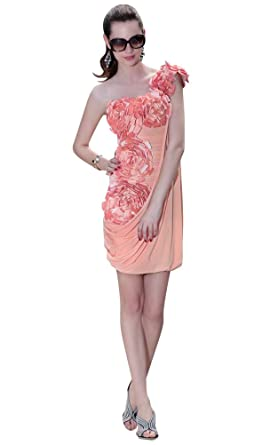 Kingmalls Womens Sexy One Shoulder Appliqued Indian Prom Dresses (XX-Large)