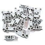 Lego 30pezzi Technic assi e pin connettori 3L in nuovo di grigio chiaro. LEGO