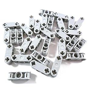 Lego 30pezzi Technic assi e pin connettori 3L in nuovo di grigio chiaro. LEGO Technic LEGO
