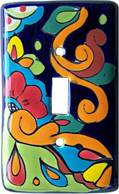 Fine Crafts Imports Rainbow Talavera Single Toggle Switch - Amerelle Ceramic