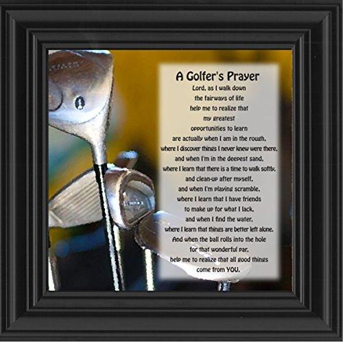 (Elegantly Yours Golfer's Prayer, Golfer's Gift for Men Picture Frame, 10x10 8512B)