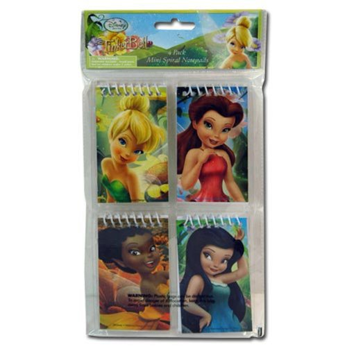 (Disney Tinkerbell and the Fairies Notepad Pack (4 Pack))