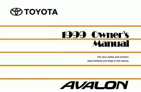 1999 toyota avalon owners manual