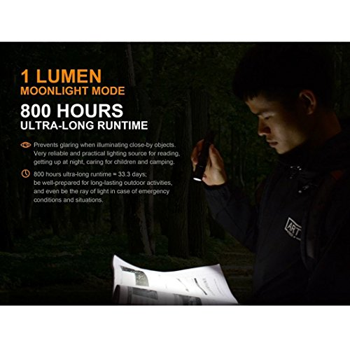 Fenix UC35 V2.0 2018 Upgrade 1000 Lumen Rechargeable Tactical Flashlight 3500mAh Battery and 2X Lumen Tactical CR123A Backup Batteries by Fenix (Image #4)