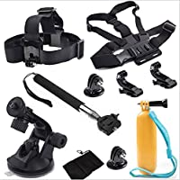 GoPro Hero 5 4 3+ 3 2 1 sports action camera accessories set self-timer rod bra strap with support SJ4000 (Basic)