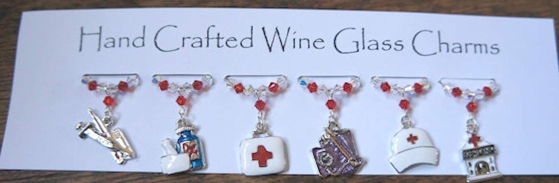 Medical Gifts Wine Glass Charms Hospital Nurses