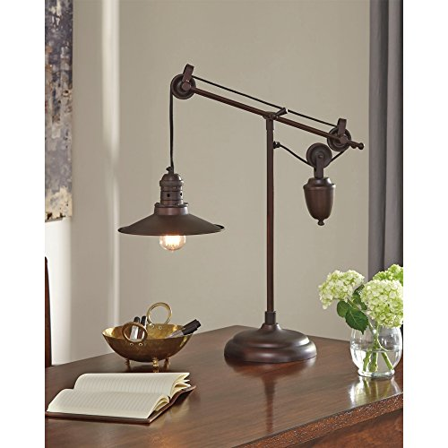 Ashley Furniture Signature Design - Kylen Desk Lamp with Metal Shade with in-Line Switch - Industrial - Bronze Finish by Signature Design by Ashley (Image #1)