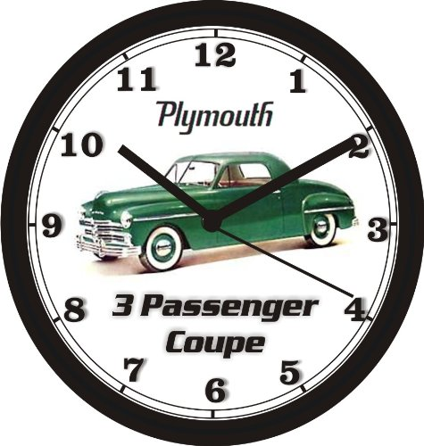 1949 PLYMOUTH 3 PASSENGER COUPE WALL CLOCK-Free USA Ship (Clock Wall Honda)