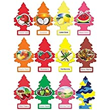 Little Trees Home and Car Air Freshener 12 Pack Most Popular Fruit Scents