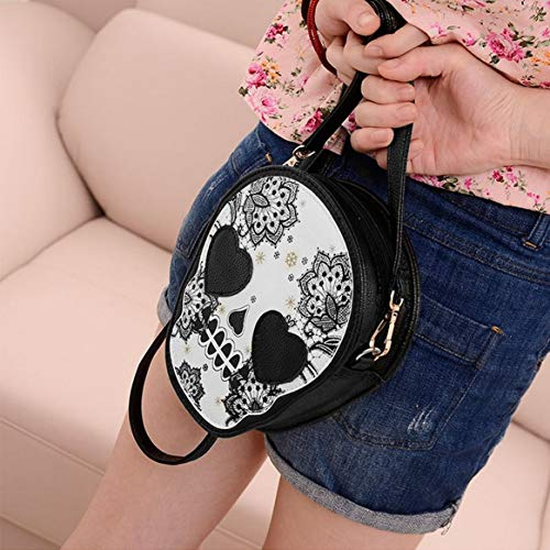 Style Mini Épaule À Mignon Sac À Crâne Motif Mini Delicacydex Main Main Femmes Populaire Satchel Bag Sac Unique PU IzdgFOq