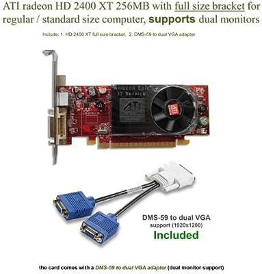 ATI Radeon HD 2400 X T 256 MB tarjeta gráfica de perfil bajo ...
