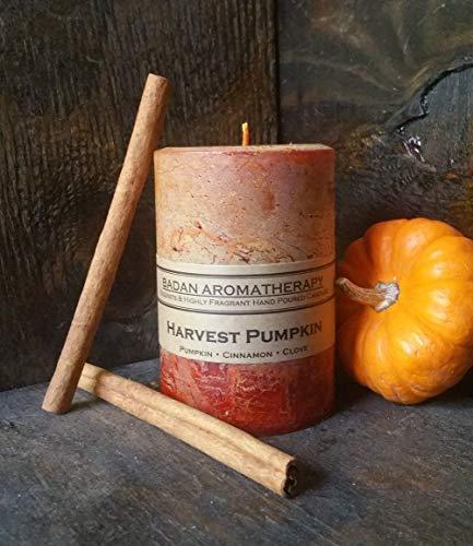 (Harvest Pumpkin Cinnamon Clove Scented Pillar Candle, 3