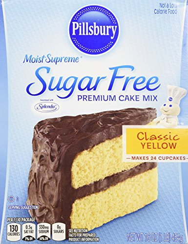 Pillsbury Moist Supreme Sugar Free Classic Yellow Cake Mix, 16 Ounce (Pack of 6)