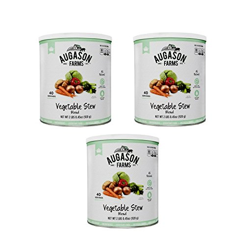 Augason Farms Vegetable Stew Blend Emergency Food Storage 32 oz #10 Can, Pack of 3