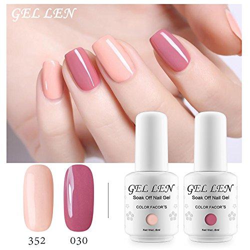 Gellen UV LED Gel Polish Kit Coral Peach Pink Shade- Selected 6 Colors Nail  Gel Set