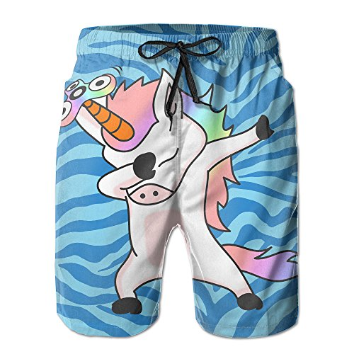 Surferio Boy Quick Dry Unicorns Dabbing Beach Shorts Swim Trunks Surf Board Shorts XXL Surf Shop Surfboard Beach Decal