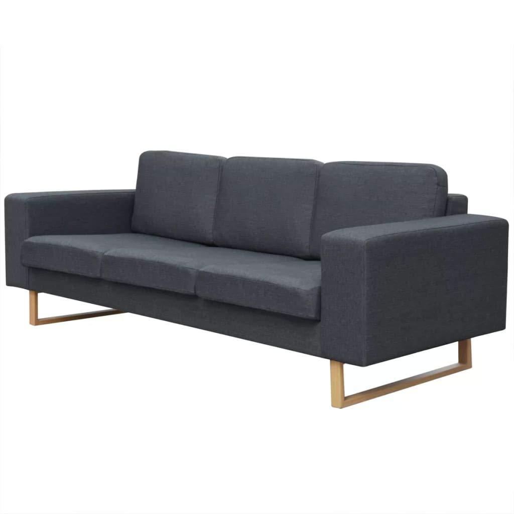 Tuduo Sofá de 3 plazas de Tela Gris Oscuro Elegante, cómodo ...