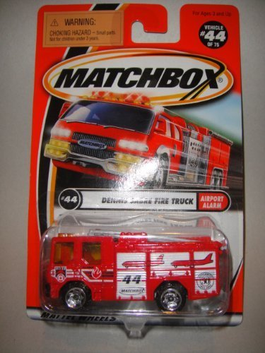 Matchbox Airport alarm series Collector #44 Red Dennis sabre fire truck -