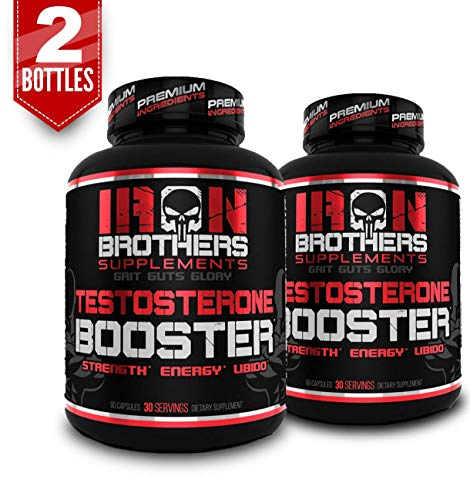 Testosterone Booster for Men - Estrogen Blocker - Supplement Natural Energy, Strength & Stamina - Lean Muscle Growth - Promotes Fat Loss - Increase Male Performance (2 Bottles)