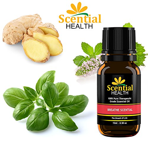 Scential Health Breathe Scential Premium Essential Oil Blend 15ml (.5oz) 100% Certified Pure Therapeutic Grade Essential Oil With No Fillers, Bases or Additives AND ZERO Carrier Oils