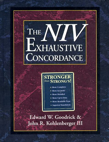 Price comparison product image The NIV Exhaustive Concordance ( A Regency Reference Library Book)