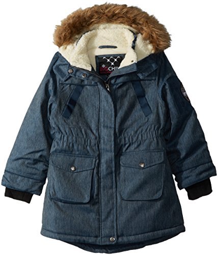 Girls Sherpa Lined Jacket (Big Chill Big Girls Sherpa Lined Long Jacket, Blue Jean,)