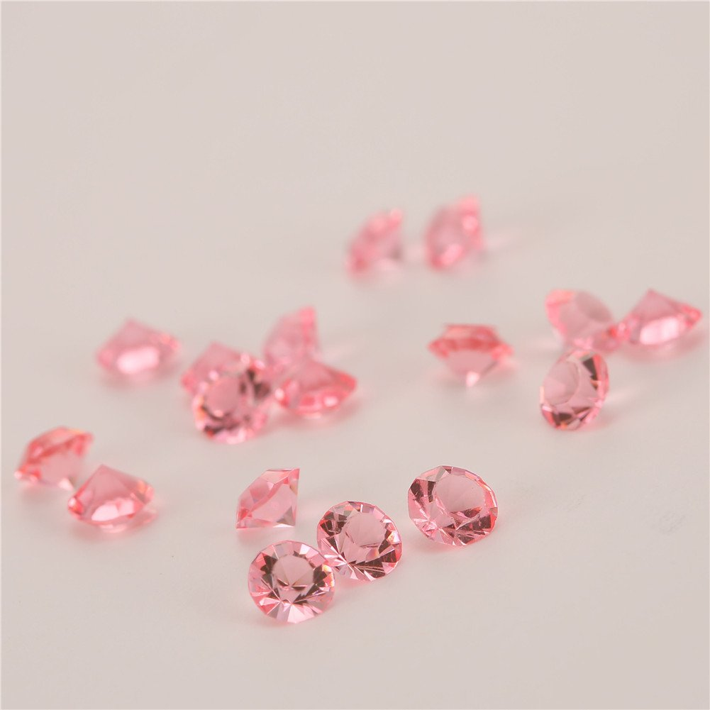 Acrylic Diamonds Table Confetti Party Toy Decorations for Weddings (4.5MM) (2000, Pink)