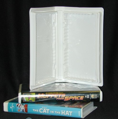 5 Empty Standard White Vinyl Replacement Disney VHS Boxes #VHBV30DW (Cases, Tapes, Clamshell, Clam Shell)