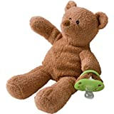 Binkibear The Original Pacifier, Classic Brown, Baby & Kids Zone