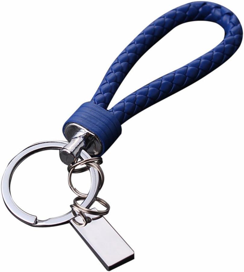 Rouge kingko/® Les Nouveaux Hommes Porte-cl/és en Cuir Anneau Keyfob Voiture Porte-cl/és Cadeau