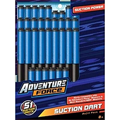 Adventure Force Suction Power Dart Refill Pack - 51 ct.: Toys & Games