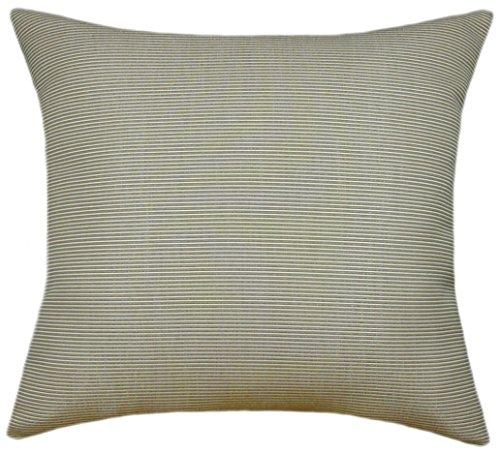 Sunbrella Rib Taupe/Antique Beige Indoor/Outdoor Pillow 16x16