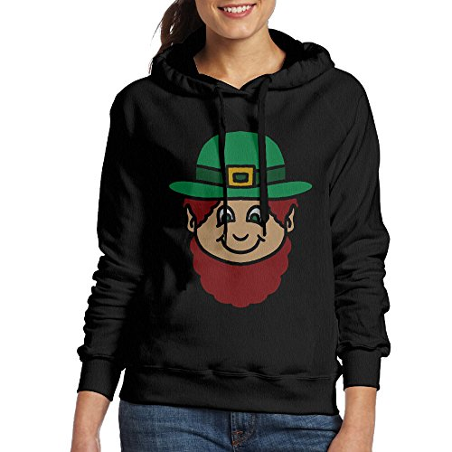 Lucky Charms Costume Cereal Box (FALKING Women's Funny Cotton Lucky Charms Head Hoodie Sweatshirt XL)