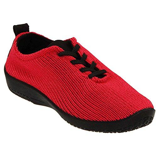 Arcopedico Womens LS 1151 Red Fabric Shoes 41 EU