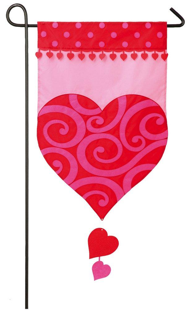 Superbe Amazon.com : Evergreen Valentineu0027s Heart Applique Garden Flag, 12.5 X 18  Inches : Garden U0026 Outdoor