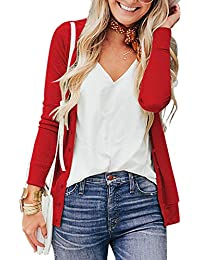 Women's Button Down Crew Neck Long Sleeve Soft Knit Cardigan Sweaters