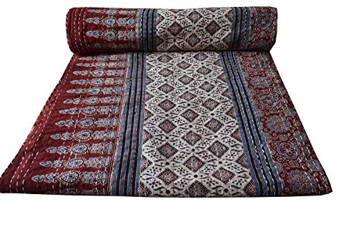 Large Bedspread Hippie Patchwork Kantha Quilt Decor Bedding Blanket Queen Size