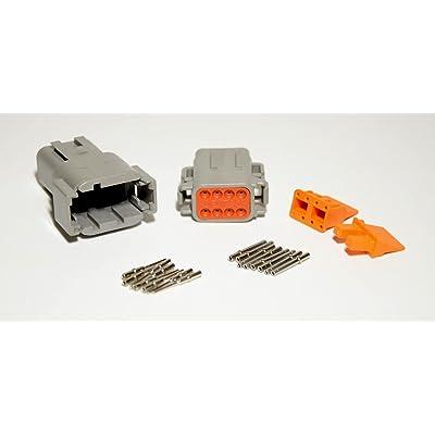 Deutsch DTM 8-pin Connector Kit with 20 Gauge Solid Terminals: Automotive