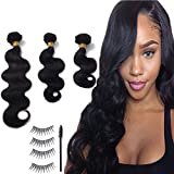 Haironline Brazilian Virgin Hair Body Wave Remy Human Hair 1 Bundle Weaves 100% Unprocessed Hair Extensions Natural Color 12 Inch