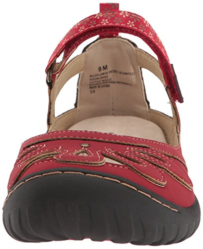 Jane Women's by Jambu JBU Wildflower Red Mary Encore Flat 4AnY6S