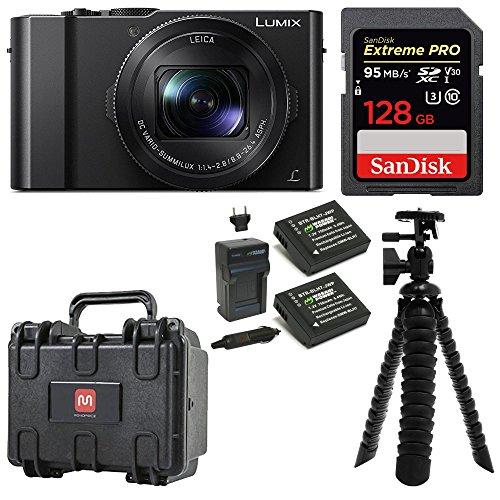 Panasonic LUMIX DMC-LX10K Camera 128GB Extreme PRO Weatherproof Hard Case Bundle by Focus Camera