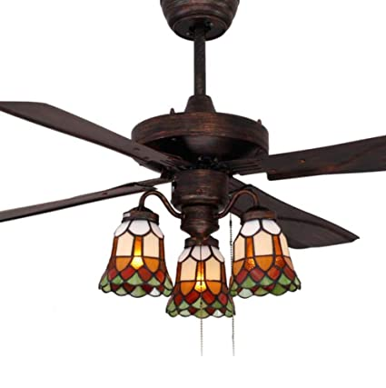 42 inch ceiling fan light tiffany style stained glass shade ceiling 42 inch ceiling fan light tiffany style stained glass shade ceiling fan light retro remote aloadofball Images