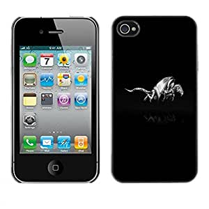 Carcasa Funda Prima Delgada SLIM Casa Case Bandera Cover Shell para Apple Iphone 4 / 4S / Business Style Metal Dragon Shield