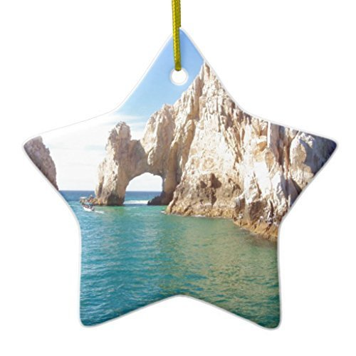 Christmas Tree Decorations Cabo San Lucas Mexico Ceramic Ornament Star Christmas Ornament Crafts Xmas Gift - 3 inch