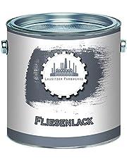 Lausitzer Farbwerke Tegellak, 2-in-1, mat, antracietgrijs, RAL 7016, grijs, grondlaag en lak voor binnen en buiten, bijzonder robuust en sneldrogend,