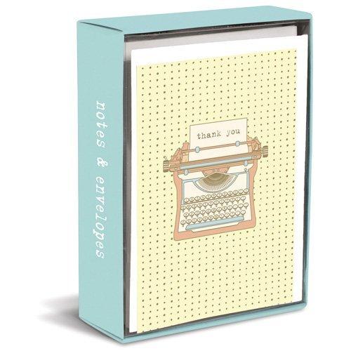 Typewriter Note - Typewriter Box of 20 Blank Note Cards