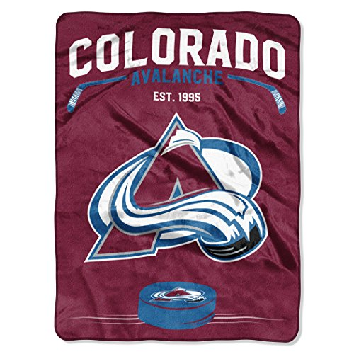 Officially Licensed NHL Colorado Avalanche Inspired Plush Raschel Throw Blanket, 60